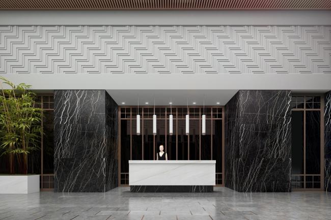 Жилой комплекс Futurist. Основной вестибюль 4 корпуса © Евгений Герасимов и партнеры
