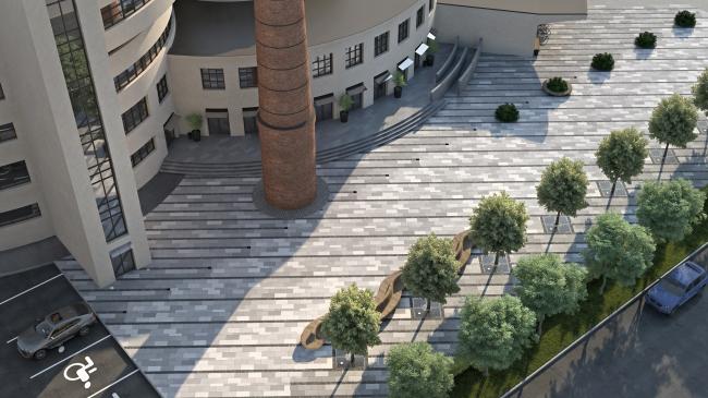 Жилой комплекс Futurist. Площадь © Евгений Герасимов и партнеры