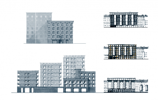 The residential complex Futurist. The hand-drawn graphics © Evgeny Gerasimov and Partners