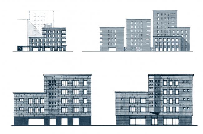 Жилой комплекс Futurist. Ручная графика © Евгений Герасимов и партнеры