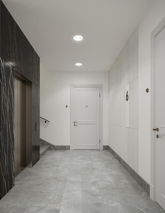 Жилой комплекс Futurist. Типовой этаж © Евгений Герасимов и партнеры