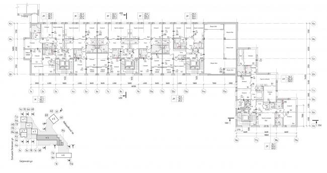 Жилой комплекс Futurist. 4 корпус, типовой этаж © Евгений Герасимов и партнеры