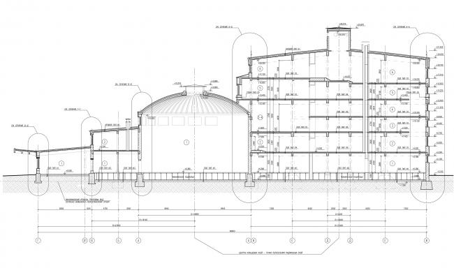 Жилой комплекс Futurist. Разрезы © Евгений Герасимов и партнеры