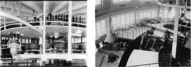 Виды автоматического цеха с котлами для приготовления теста. 1933 г. ЦГА КФФД. Гр 55576
