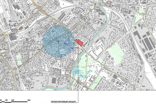Жилой комплекс с подземной парковкой на Малой Почтовой улице, 12. Схема ситуационного плана