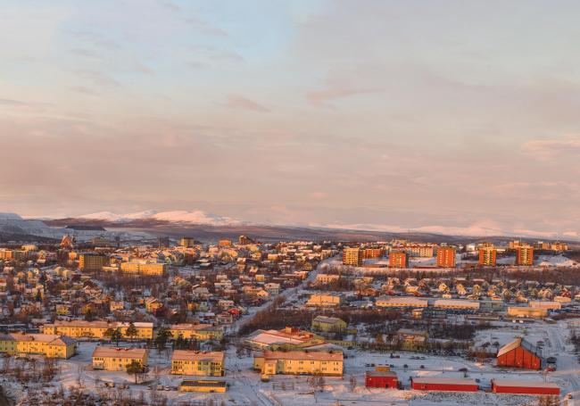 Панорама Кируны. Фото © Peter Rosén/LapplandMedia