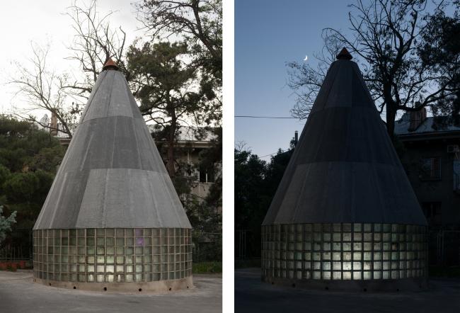The pavilion of chacha ceremonies; author: Alexander Brodsky, coauthor: Maria Kremer. 2018. Photograph © Yury Palmin