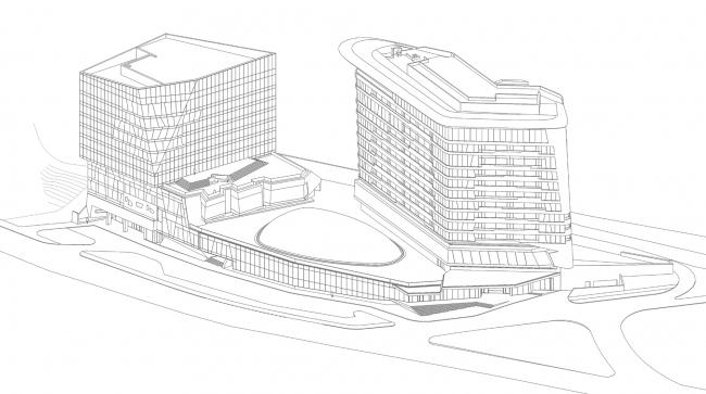 Kamchatka Hotel. Axonometric drawing © TOTEMENT/PAPER