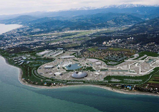 Нижнеимеретинская низменность. Генплан Олимпийского парка. Сочи-2014. HOK Sport