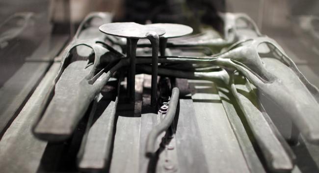 Автомобильная развязка, реконструированный макет. Триеннале, 1968. Выставка «НЭР: По следам города будущего. 1959–1977». 2019. Фотография: Юлия Тарабарина, Архи.ру