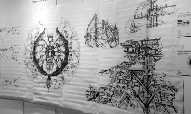 НЭР: Русло. Триеннале, 1968. Выставка «НЭР: По следам города будущего. 1959–1977». 2019. Фотография: Юлия Тарабарина, Архи.ру
