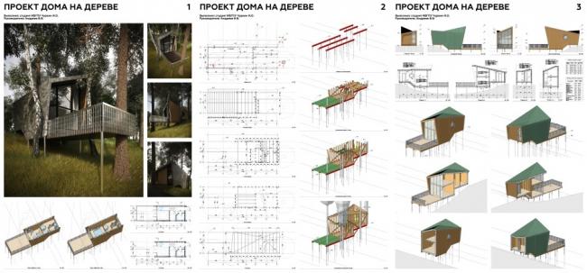 Проект дома на дереве. Автор проекта: Илья Чуркин