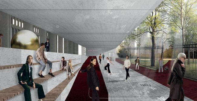 Проект реконструкции Московского Дворца Молодежи 2019 г.