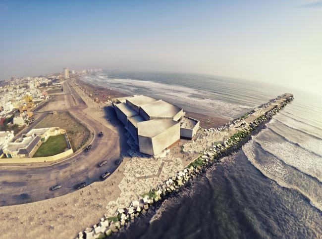Культурный центр с концертным залом Foro Boca d Бока-дель-Рио © Rojkind Arquitectos