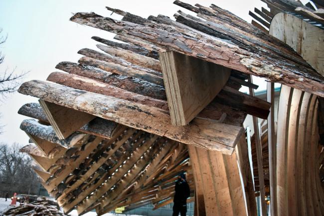 Павильон Hybrid Hut в Виннипеге. Фото © Rojkind Arquitectos, фотограф Salvador Cortéz