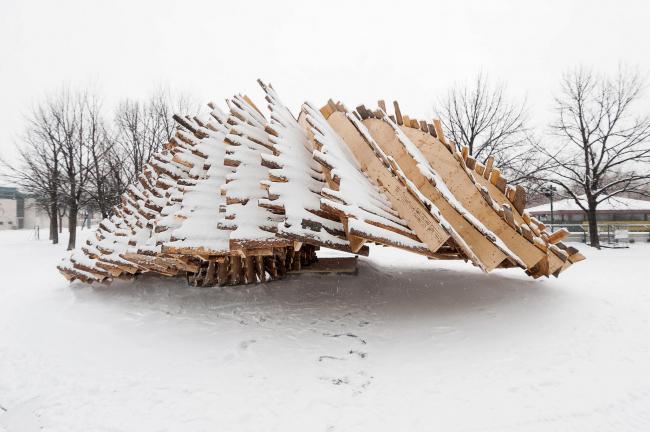 Павильон Hybrid Hut в Виннипеге. Фото © Douglas Little, The Forks
