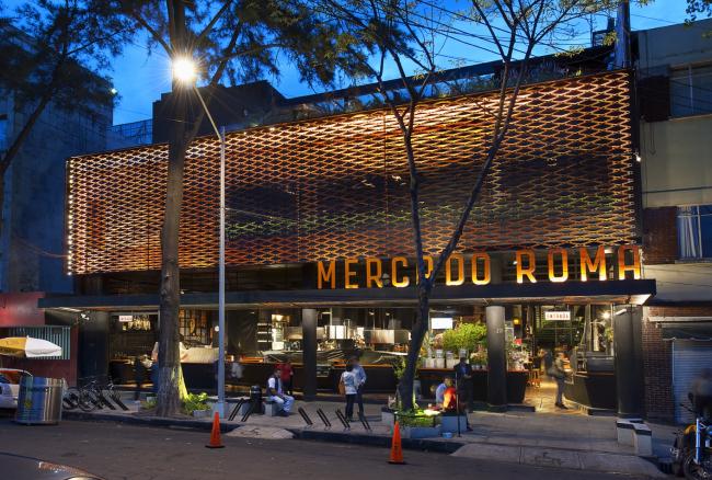Гастрономический рынок в Мехико Mercado Roma. Фото © Rojkind Arquitectos, фотограф Jaime Navarro