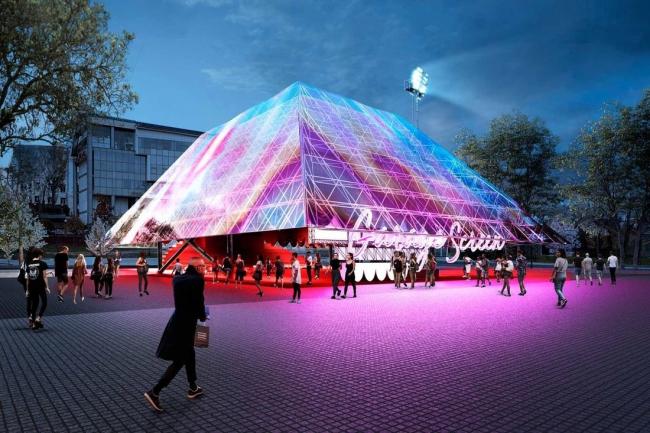 Проект летнего кинотеатра для музея «Гараж» © Syndicate
