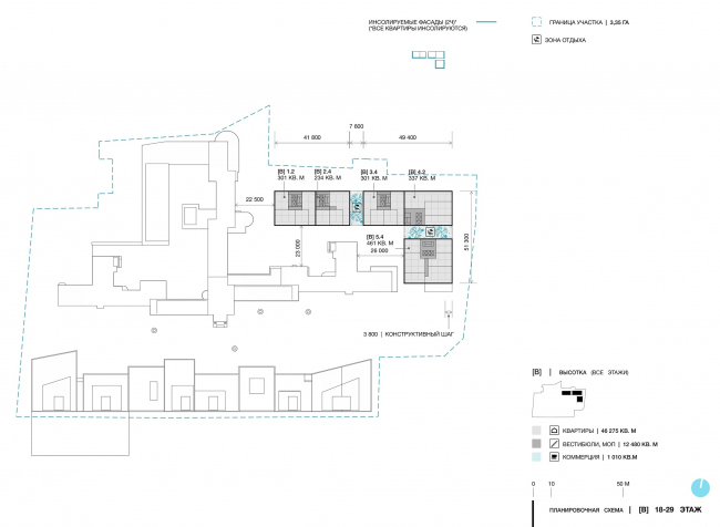 Green Coppice House. The floor plans. Floors 18-29 © OSAArchitects