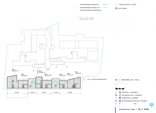 Green Coppice House. The floor plans. The 2nd floor © OSAArchitects
