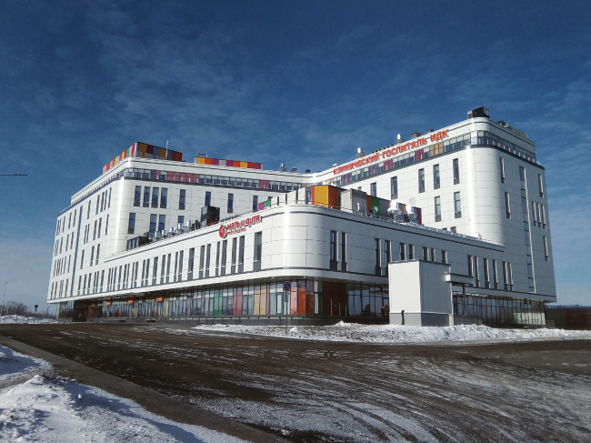 Многопрофильный госпиталь, Тюмень /  АкадемСтройПроект. Изображение предоставлено АПМО