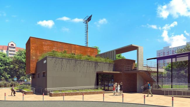 Реконструкция стадиона «Машиностроитель», Красногорск (МО) /  Арктика-СВ-Проект. Изображение предоставлено АПМО