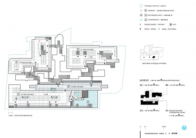 Green Coppice House. The floor plans. The -1st floor © OSAArchitects