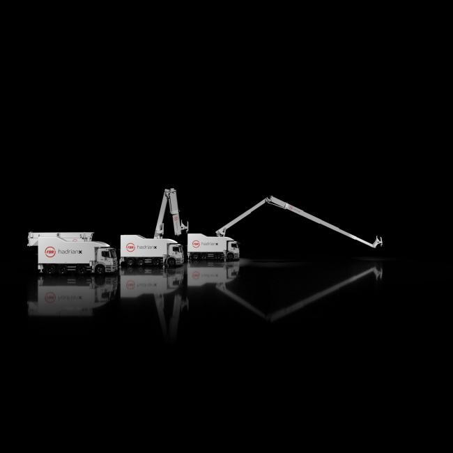 Робот Hadrian X. Фотография предоставлена компанией Fast Brick Construction