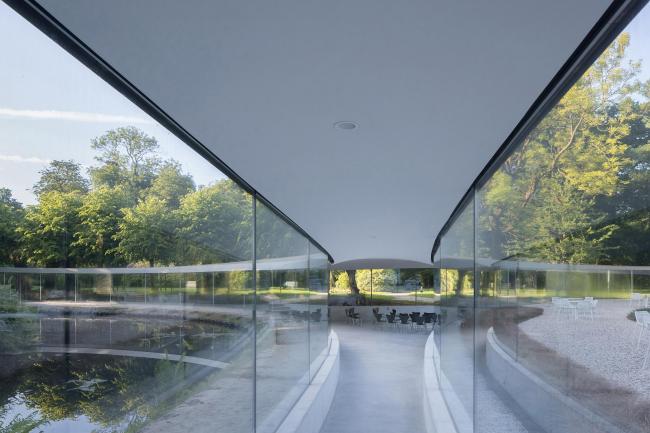 Посетительский центр парка Вейверсбюрг в Нидерландах. Проект STUDIO MAKS и Дзюньи Исигами. Фотография © Iwan Baan