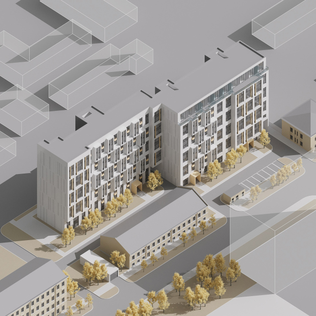 The housing project on the Prilukskaya Street © Anatoly Stolyarchuk Architectural Studio