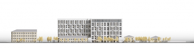 The housing project on the Prilukskaya Street. Development drawing © Anatoly Stolyarchuk Architectural Studio