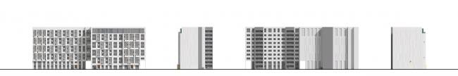 ЖК на ул. Прилукская. Фасады © Архитектурная мастерская А.А. Столярчука