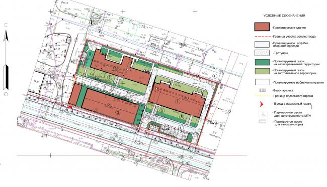 The housing project on the Prilukskaya Street. Master plan © Anatoly Stolyarchuk Architectural Studio