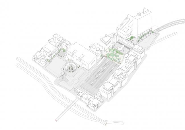 Реконструкция общественных пространств комплекса «Бродгейт»  © DSDHA