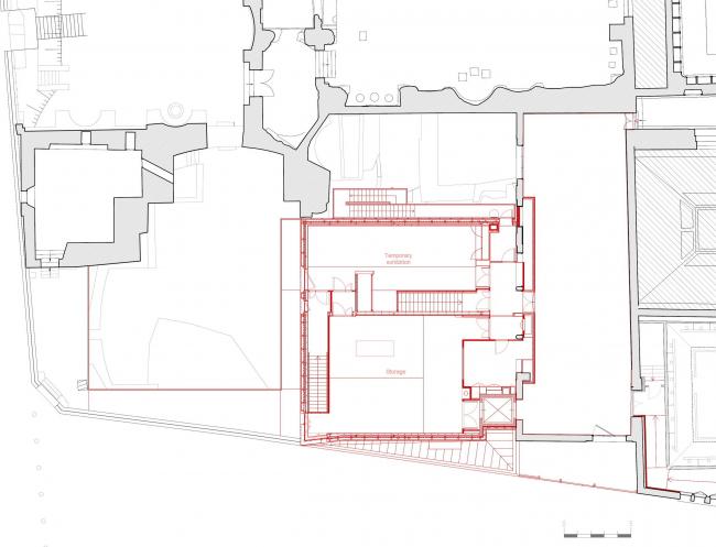 Новый вход и вестибюль музея Клюни © Bernard Desmoulin architecte
