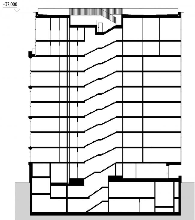 Section view © APEX project bureau