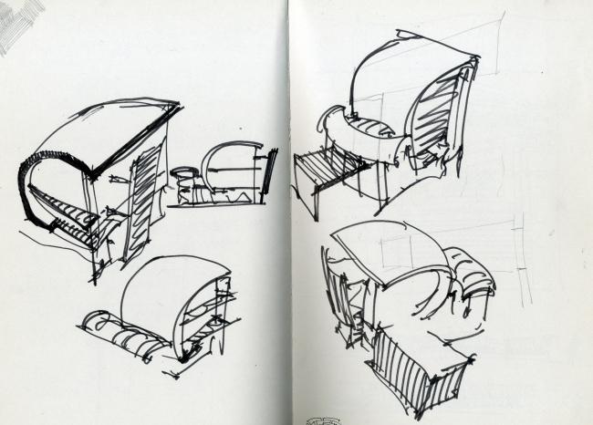 Sketch of a house. Roman Leonidov