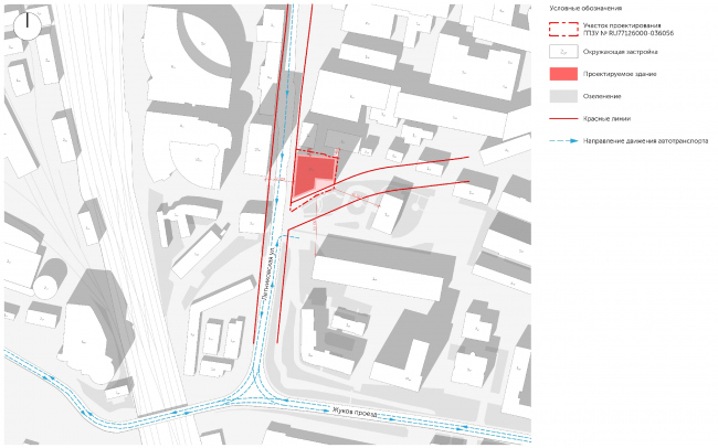 Ситуационный план и «красные линии» © Проектное бюро АПЕКС
