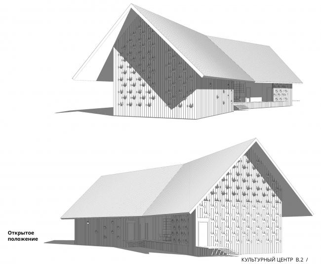 Архитектурно-градостроительная концепция развития села Кубенского. Сельский культурный центр. Перспективные виды