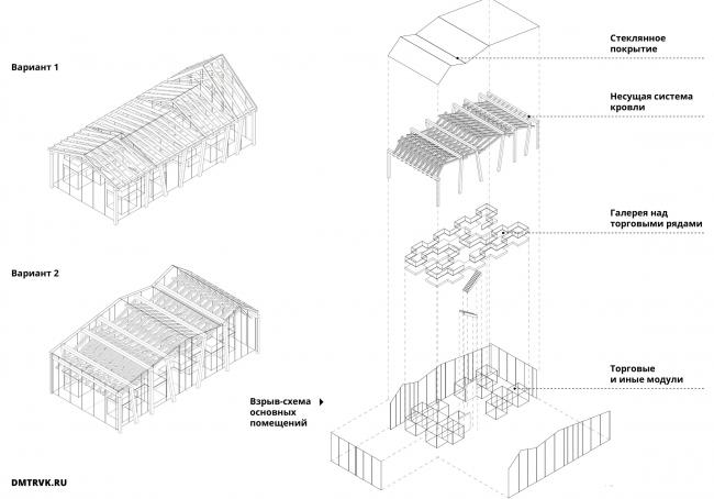 Архитектурно-градостроительная концепция развития села Кубенского. Варианты решения кровли