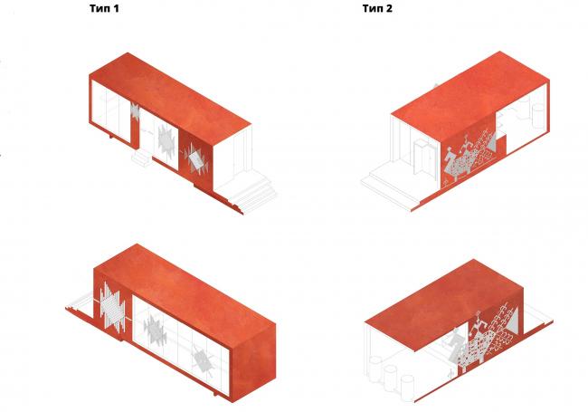 Архитектурно-градостроительная концепция развития села Кубенского. Торговые павильоны
