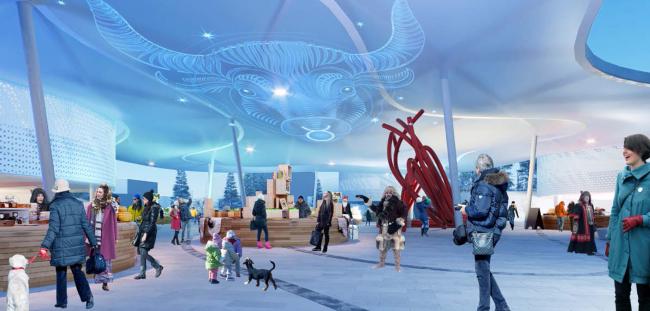 Концепция территории «Парка будущих поколений» в Якутске © ам Атриум, Восток+