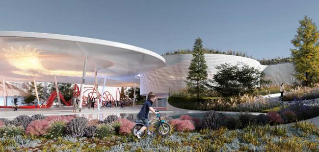 "Concept of the ""Park of the Future Generations"" in Yakutsk © Atrium, Vostok+"