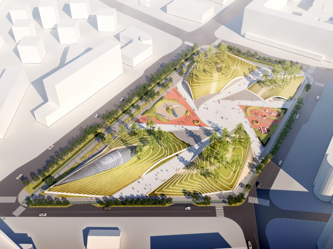 """Concept of the """"Park of the Future Generations"""" in Yakutsk © Yakutproject, Asadov Bureau, LSTK-Project"""