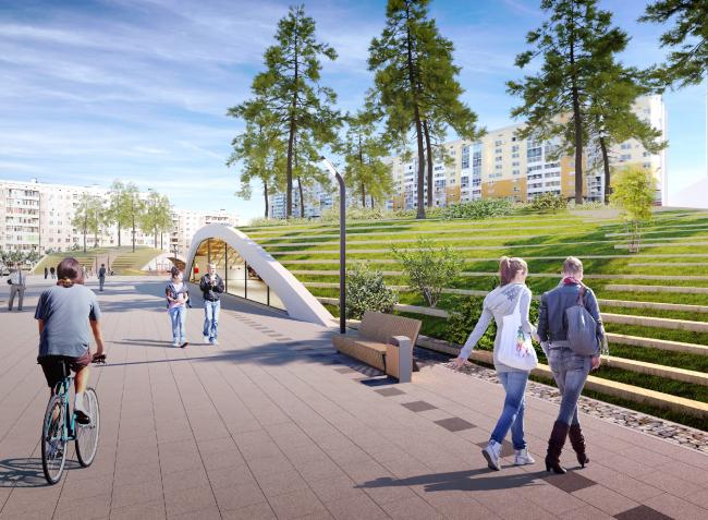 Концепция территории «Парка будущих поколений» в Якутске © Якутпроект, Архитектурное бюро Асадова, ЛСТК-Проект