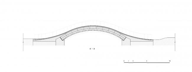 Мост в Шанхае © Tsinghua University (School of Architecture) – Zoina Land Joint Research Center for Digital Architecture (JCDA)