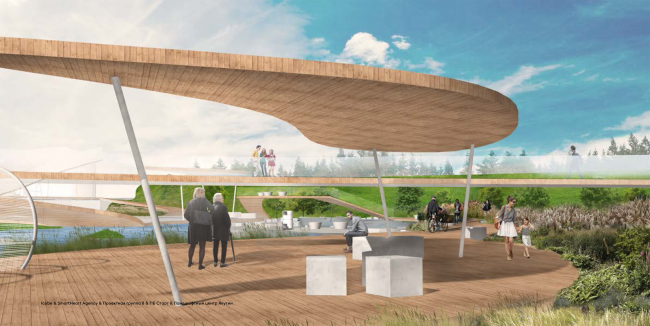 """Concept of the """"Park of the Future Generations"""" in Yakutsk © iCube, SmartHeart Agency, Project Group 8, PB Start, Yakutia Landscape Design Center"""