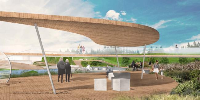 Концепция территории «Парка будущих поколений» в Якутске © Icube, SmartHeart Agency, Проектная группа 8, ПБ Старт, Ландшафтный центр Якутии