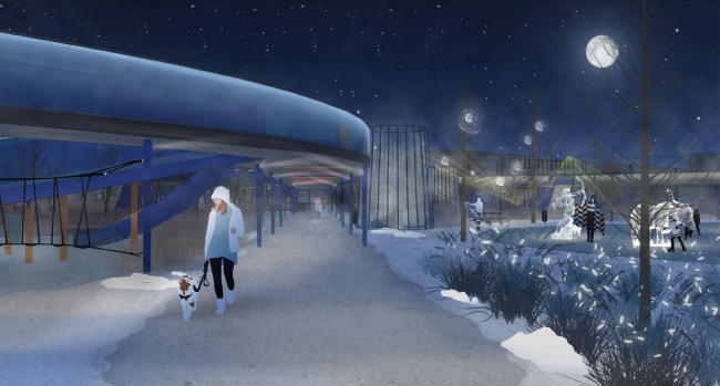 """Concept of the """"Park of the Future Generations"""" in Yakutsk © Wowhaus, Gorproject"""