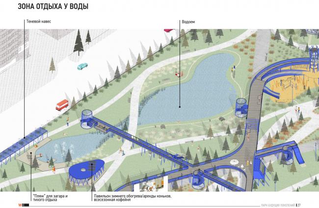 Концепция территории «Парка будущих поколений» в Якутске © Wowhaus, Горпроект
